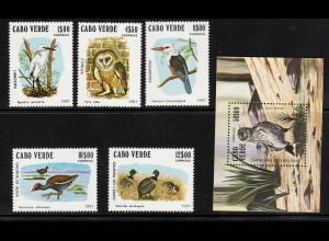 Kap Verde: 1981, Vögel (Satz und Blockausgabe)
