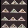 Zentralafrikanische Republik: 1962, Portomarken Käfer (Dreiecksmarken)
