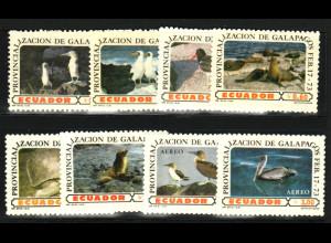 Ecuador: 1973, Provinz Galapagos-Inseln (Tiere, überwiegend Vögel)