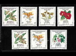 Kolumbien: 1960, Blumen (der Endwert zu 2 Peso fehlt)
