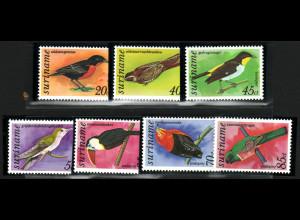 Surinam: 1977, Freimarken Vögel