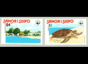 Samoa: 1978, Naturschutz (Karettschildkröte, frühe WWF-Ausgabe)