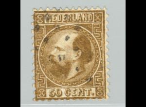 Niederlande: 1867, König Wilhelm III. 50 C. golden