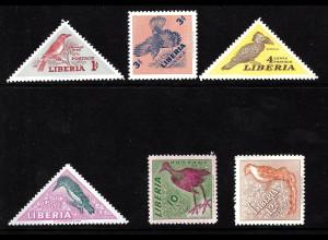 Liberia: 1953, Einheimische Vögel