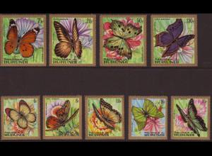 Burundi: 1968, Schmetterlinge (nur Flugpostwerte)