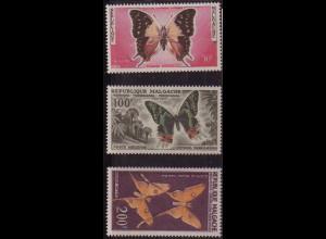 Madagaskar: 1960, alle Schmetterlinge aus Satz 455/60