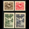 Japan: 1919, Friedensschluss 1. Weltkrieg (Friedenstaube, teilweise etwas fleckig)