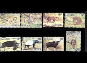 Malaysia: 1979, Freimarken Tiere