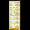 1999, Automatenmarken Posthorn Standardsatz 100, 110, 220, 300, 400 und 440 Pfg. (Eindruck Posthorn, VS 1)