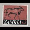 Sambia: 1968, Antilope 2 K. (Freimarken-Höchstwert)