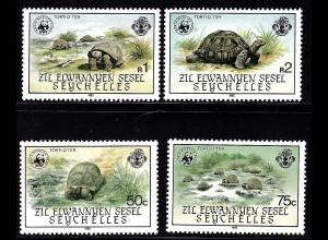 Seychellen (Äußere Seychellen): 1985, Seychellen-Schildkröte (WWF-Ausgabe)