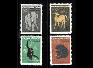 Nord-Vietnam: 1961, Freimarken Wildtiere (ohne Gummi verausgabt)