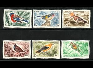 Libanon: 1965, Freimarken Vögel