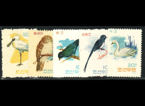 Nordkorea: 1962, Vögel (ohne Gummi verausgabt)