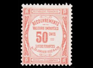 Frankreich: 1909, Portomarke 50 C. (Höchstwert)
