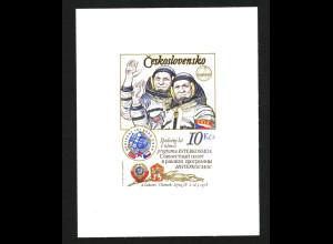 Tschechoslowakei: 1979, Blockausgabe Kosmonauten (seltene Type II, ungezähnt)
