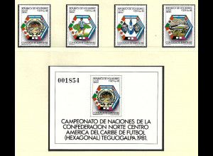 Honduras: 1981, Fußball-WM Spanien (Satz und Blockausgabe)
