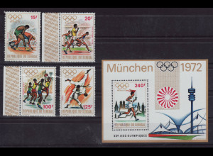 Senegal: 1972, Sommerolympiade München (Sportarten, Satz und Blockausgabe)