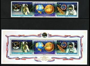 Niue: 1989, 20. Jahrestag der Mondlandung (Satz und Blockausgabe)
