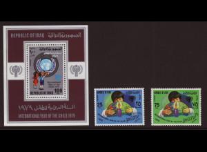 Irak: 1979, Jahr des Kindes (Satz und Blockausgabe)