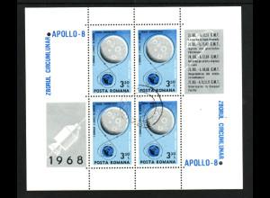Rumänien: 1969, Blockausgabe Apollo 8