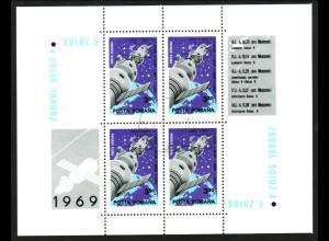 Rumänien: 1969, Blockausgabe Sojus 4 und 5