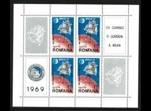 Rumänien: 1969, Blockausgabe Mondlandung von Apollo 12