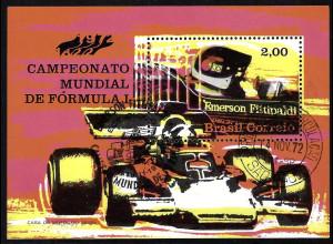 """Brasilien: 1972, Blockausgabe Autorennen """"Formel 1"""""""