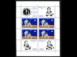 Rumänien: 1971, Blockausgabe Apollo 14