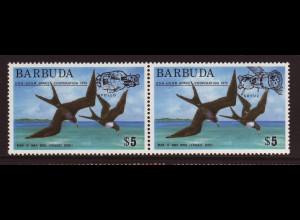 Antigua und Barbuda - Barbuda: 1975, Überdruckausgabe Apollo/Sojus (Zdr.-Paar, auch Motiv Vögel)