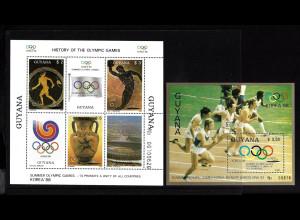 Guyana: 1987, Blockpaar Sommerolympiade Seoul (Antike Olympiade und Laufen)