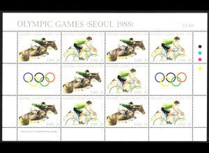Irland: 1988, Zdr.-Kleinbogen Sommerolympiade Seoul (Springreiten, Radfahren)