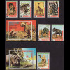 Äquatorial Guinea: 1974, Afrikanische Tiere (Satz gezähnt sowie Blockpaar)