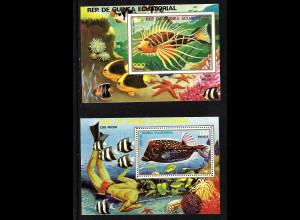 Äquatorial Guinea: 1979, Blockpaar Tropenfische
