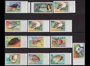 Aitutaki: 1978, Dienstmarken Weichtiere des Meeres (Kurzsatz ohne Endwerte)