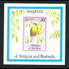 Antigua und Barbuda: 1984, Blockausgabe Singvögel (Waldsänger)