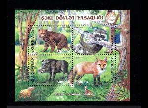Aserbaidschan: 2003, Blockausgabe Säugetiere