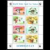 Aserbaidschan: 2000, Moorente, WWF-Ausgabe (Kleinbogen mit 2 Viererblöcken)