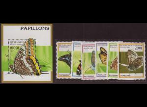 Benin: 1996, Schmetterlinge (Satz und Blockausgabe)
