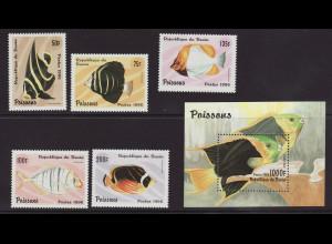 Benin: 1996, Fische (Satz und Blockausgabe)