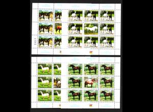 Bosnien-Herzegowina (Serbische Republik): 2003, Pferde (Kleinbogensatz mit 4 KB)