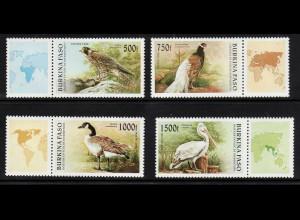 Burkina Faso: 1996, Vögel (mit anhängendem Zierfeld)