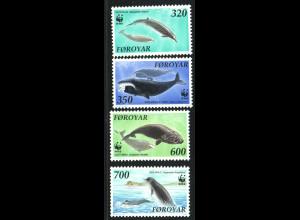 Dänemark - Färöer: 1990, Wale, WWF-Ausgabe