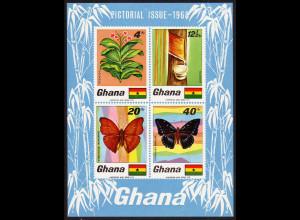 Ghana: 1968, Blockausgabe Pflanzen und Tiere