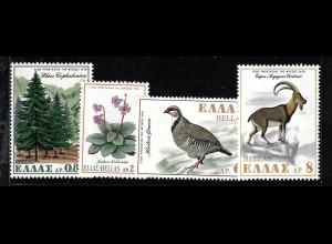 Griechenland: 1970, Europäisches Naturschutzjahr (Pflanzen und Tiere)