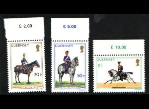 Guernsey: 1975, Militäruniformen (Soldaten auf Pferden)
