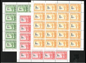 Guinea: 1962, Kleinbogensatz Malariabekämpfung (mit je 20 Marken)
