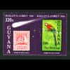 Guyana: 1986, Halleyscher Komet (auch Motiv Schiffe und Vögel; mit anhängendem Zierfeld)