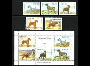 Irland: 1983, Hunde (Satz und Blockausgabe)