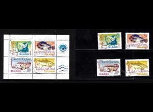 Island: 1998, Nutzfische (Satz und Blockausgabe)
